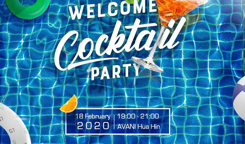 Image for Welcome Cocktail Party that Sobel sponsored.