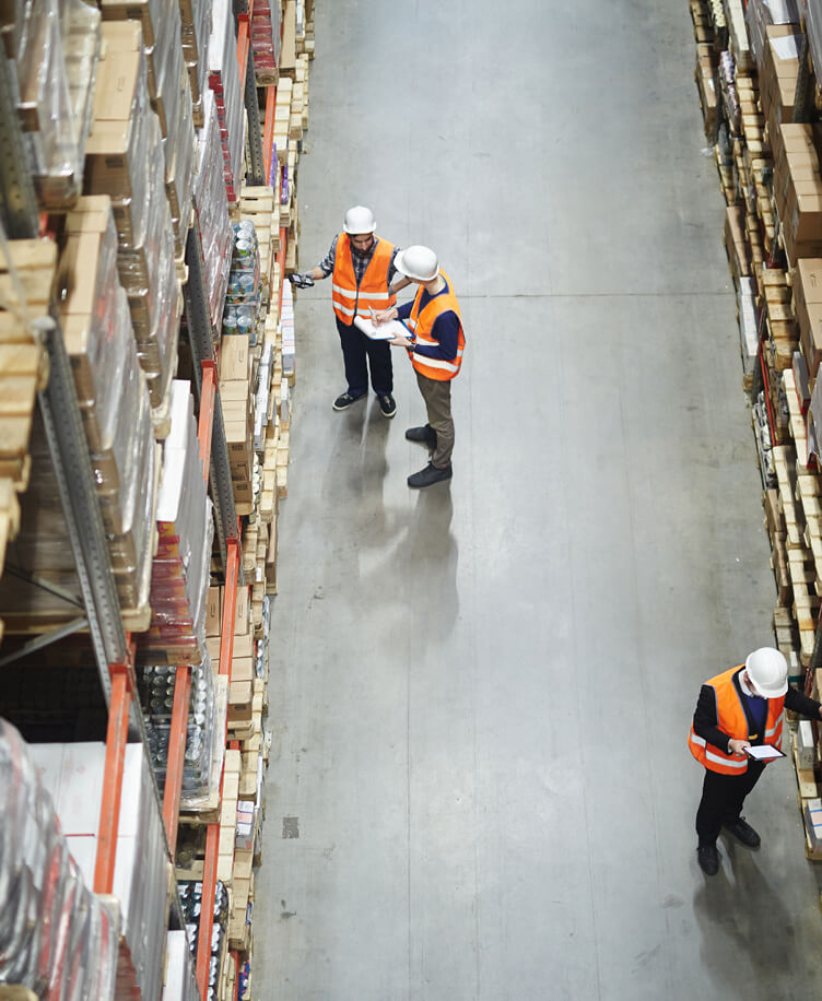 Image of warehouse workers