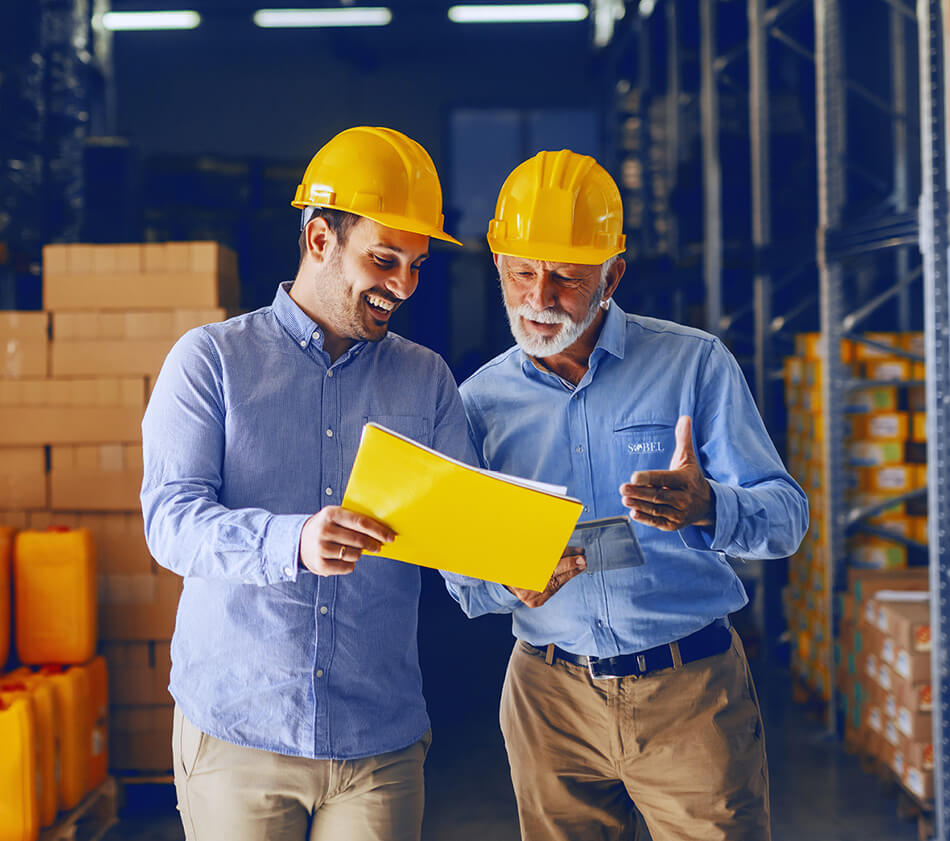 Image of two warehouse workers.