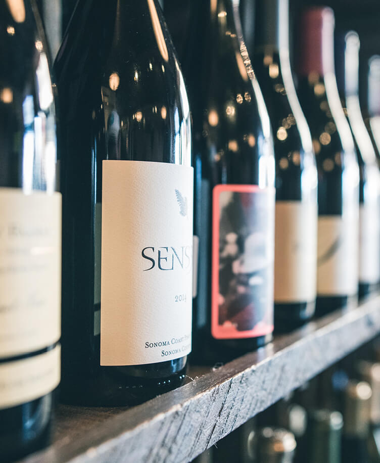 Image of wine on a shelf