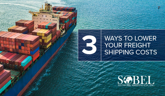 Blog image of an ocean freight carrier for 3 Ways to Lower Your Freight Shipping Costs.
