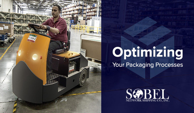 Blog image of warehouse worker using machinery for Optimizing Your Packaging Processes.